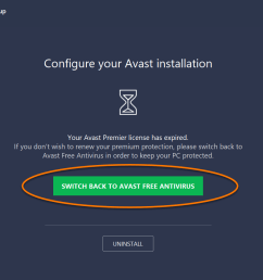 when the avast setup wizard appears click switch back to avast free antivirus  [ 1262 x 842 Pixel ]