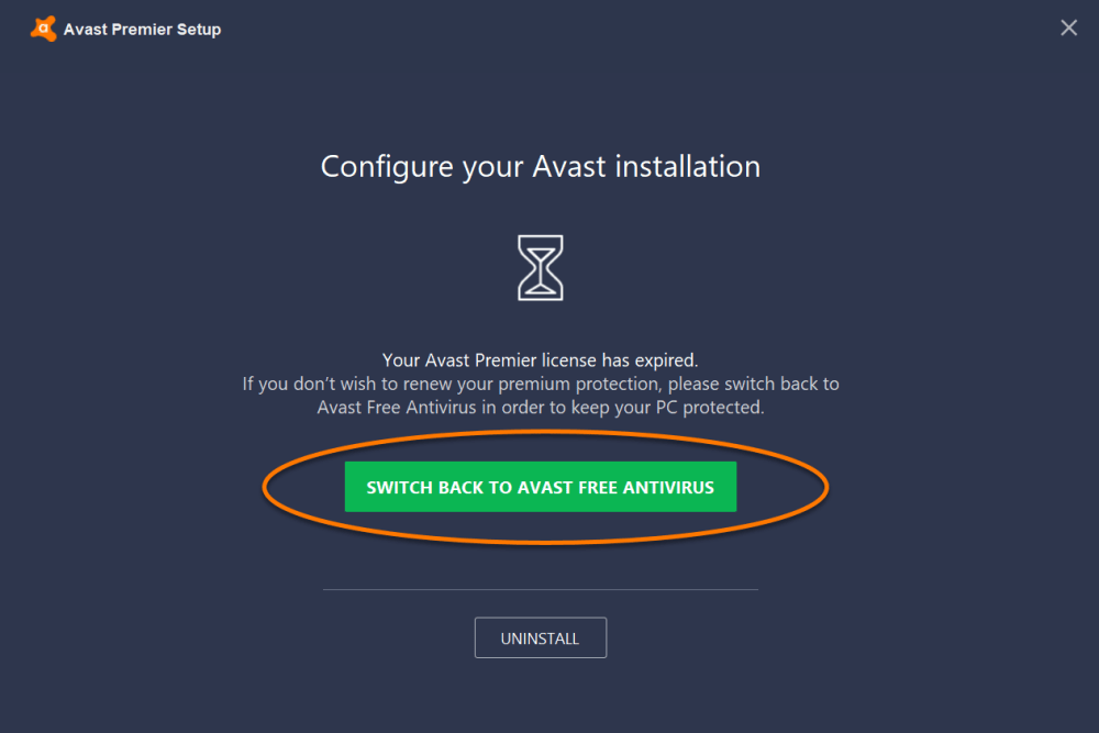 medium resolution of when the avast setup wizard appears click switch back to avast free antivirus
