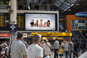 Royal baby campaign by The Sun on JCDecaux's Transvision rail screen