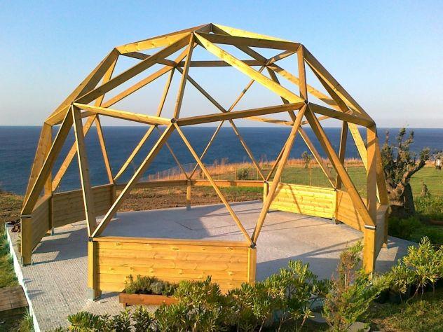 CUPOLA GEODETICA progettazione strutture prefabbricate gazebo in legno  Annunci Milano
