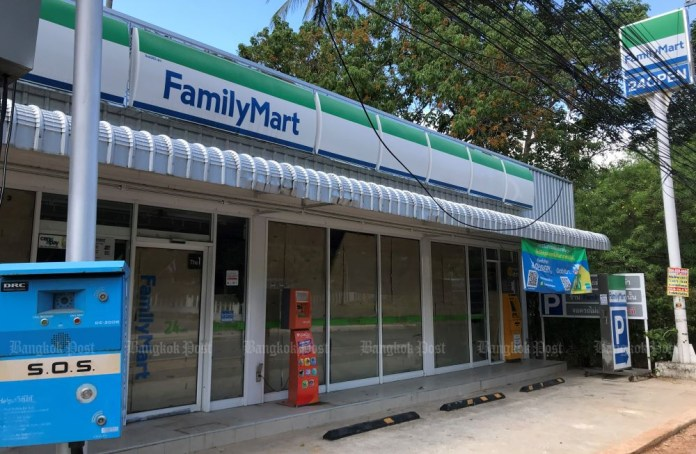 A closed-down branch of Family Mart is seen on Had Lamai Road on Koh Samui in Surat Thani province on July 1, 2021. (Photo: Dave Kendall)