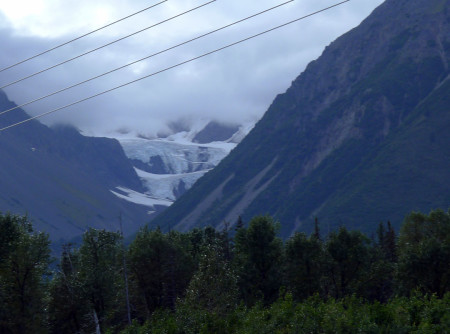 Exit Glacier, looming over Seward.