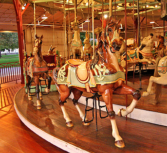 Rochester's historic carousel. (Monroe County Parks Department website)