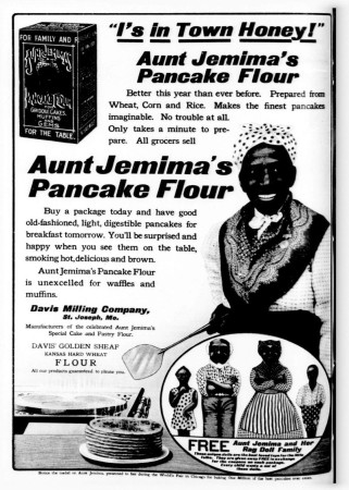Aunt Jemima was a caricature, but to American children at breakfast time, she was NICE.