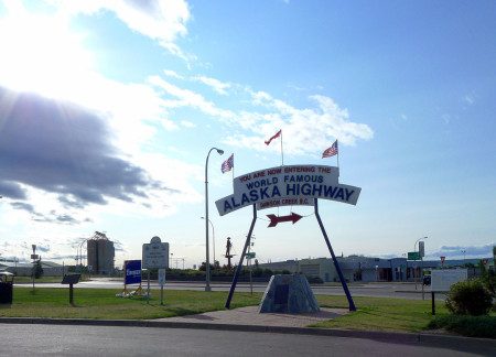 The beginning of the Alaska (ALCAN) Highway, in Dawson Creek, BC.