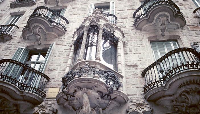 La Casa Calvet of Antoni Gaudi in Barcelona