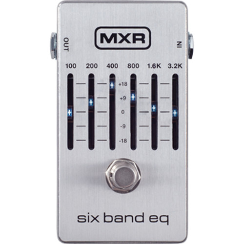 MXR Six Band EQ equalizer effects pedal