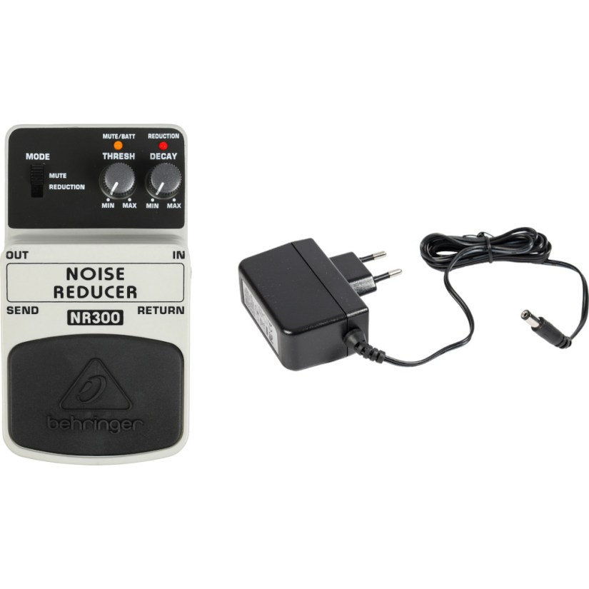 Behringer NR300 Noise Reducer Effects Pedal + Power Supply
