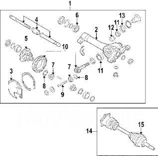 Сальник хвостовика переднего редуктора Nissan, Infiniti