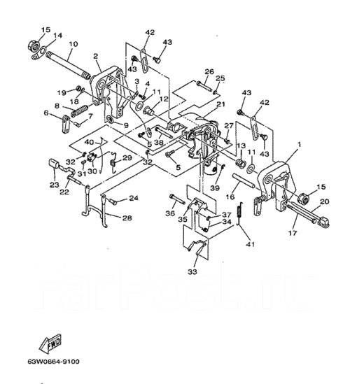 Продам крепление лодочного мотора Yamaha 15F(MH