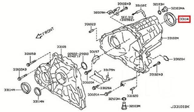 Сальник привода Infiniti, Nissan OEM Original Japan