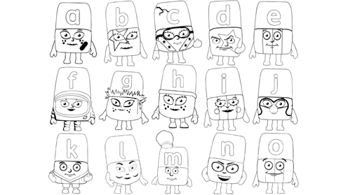 Alphablocks Coloring Pages Sketch Coloring Page