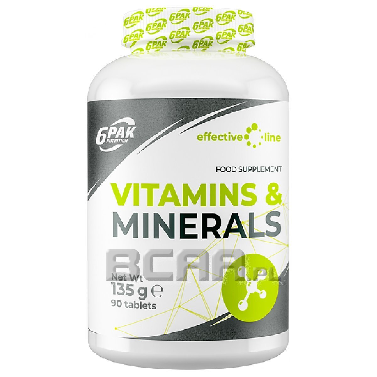 Effective Line Vitamins Amp Minerals 6pak Nutrition 90tab
