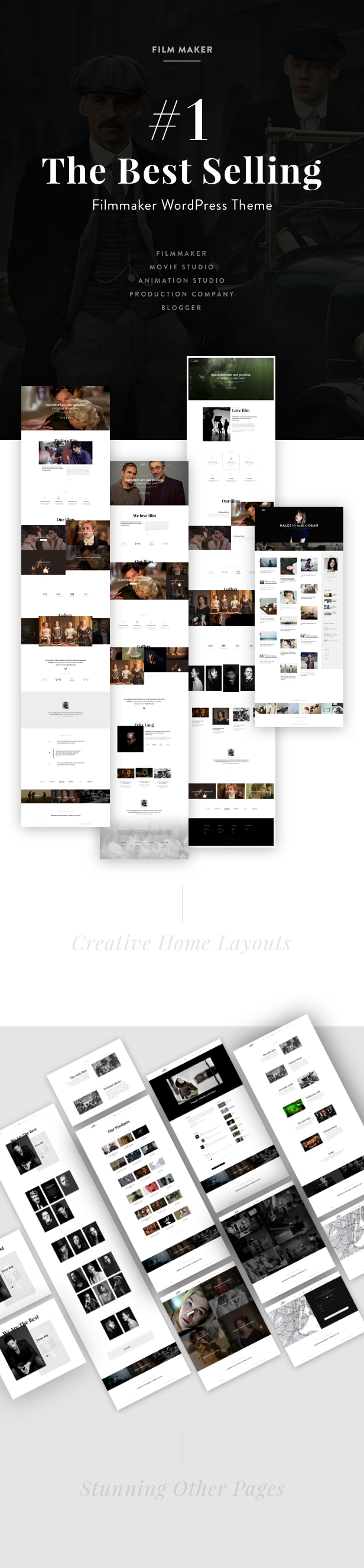 FilmMaker WordPress Theme: Film Studio - Movie Production - Video Blogger - Creative Agency 5