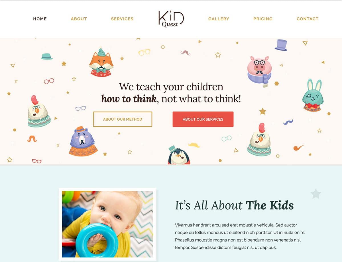 Nursery WordPress theme
