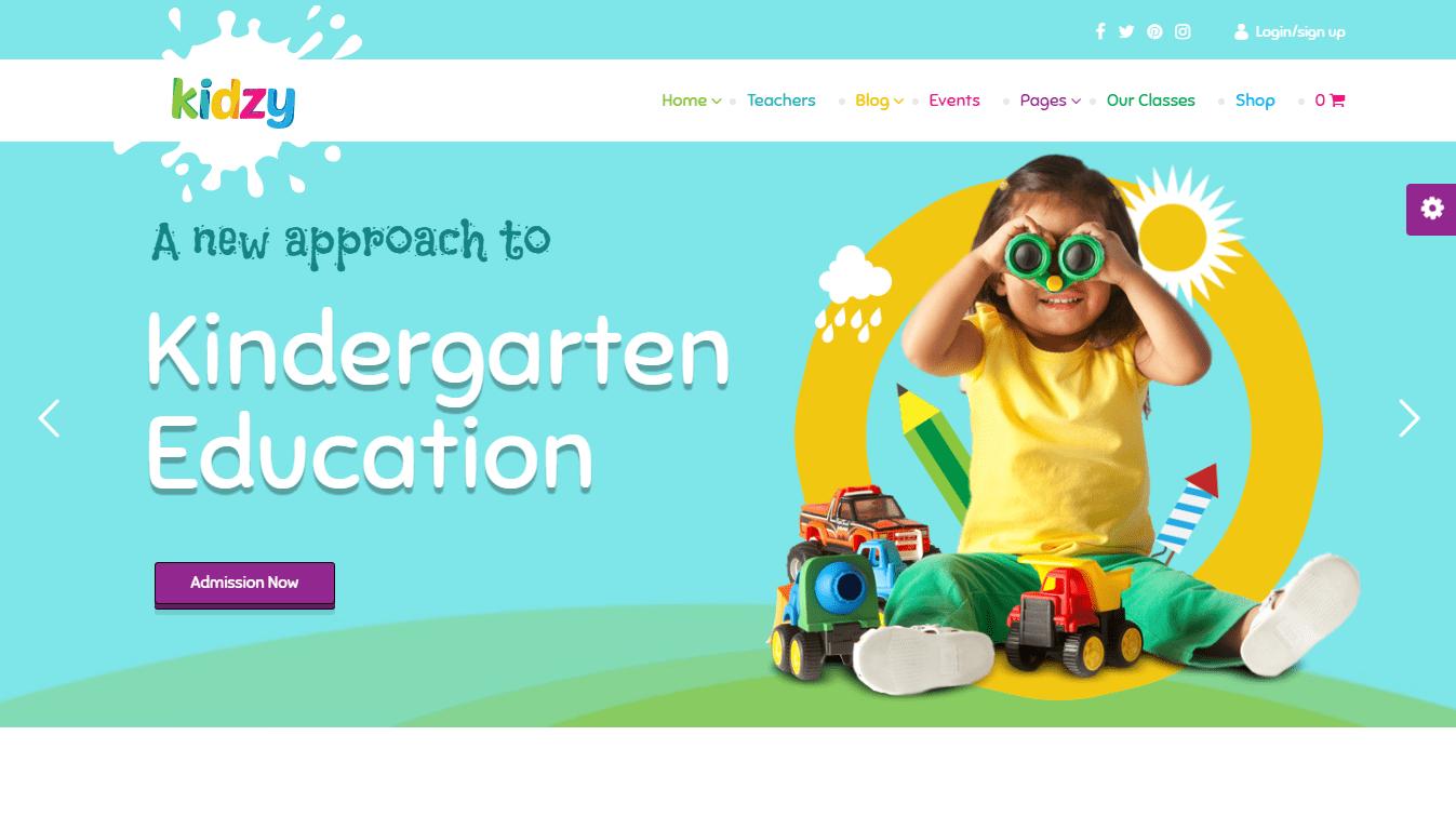 Kindergarten theme wordpress
