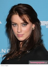 Pictures : Amber Heard Hairstyles - Amber Heard with Brown ...