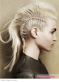 Pictures : Punk Girl Hairstyles - Braided Mohawk Hair Style
