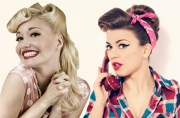 rockabilly and pin- girl hairstyles