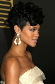 rihanna's curly mohawk hairstyle