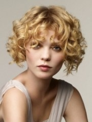 retro curly bob hairstyles