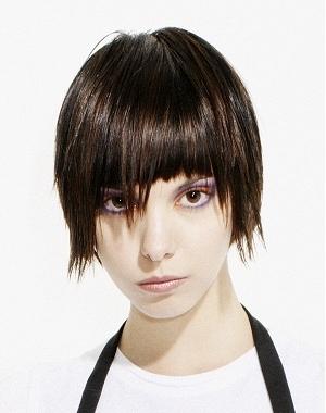 short choppy bangs hairstyles