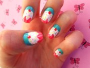 girly nail art design