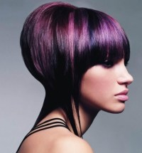 Two-Tone Emo Hair Color Ideas.