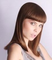 chic short bangs hair styles