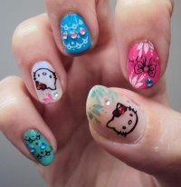 Hello Kitty Nail Art Ideas.
