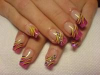 Multi-Colored Nail Designs.