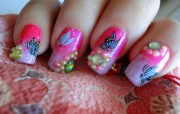 cute and girly nail art design