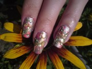 abstract nail design makeup