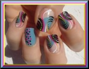 trendy simple nail art design