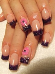 colorful french nail art design