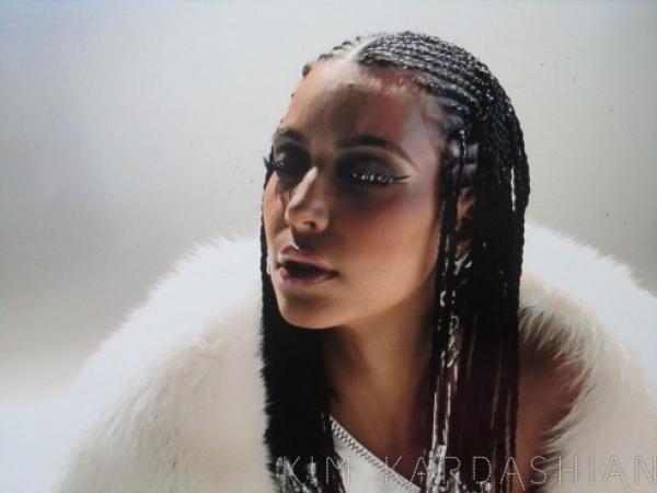 Kim Kardashian Music Video Braids Hairstyle Makeup Tips And Fashion