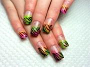 hot animal print nail art