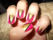 easy colorful nail art design