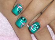 bright nail art design