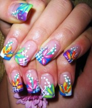 fun and colorful nail art design