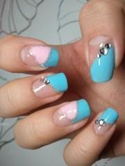 colorful nail art design 2012