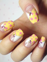 colorful nail art design 2012