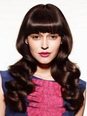 glam blunt bangs long haircuts