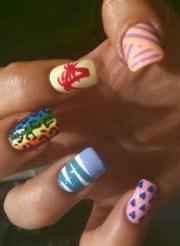 simple colorful nail art ideas