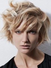 medium haircuts with choppy bangs