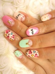 multi-color nail art ideas
