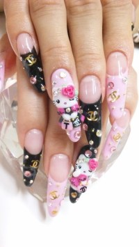 Hello Kitty Nail Art Designs for 2012.