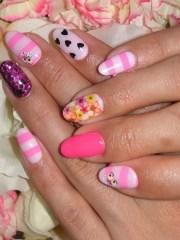 flirty fun nail art design