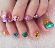 cool toe nail art design