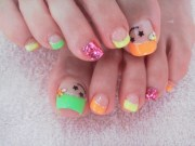 cool toe nail art design